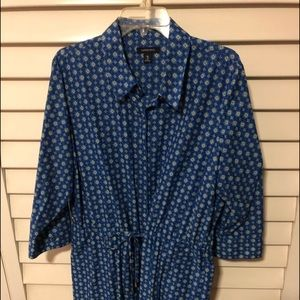 Lands End button up dress